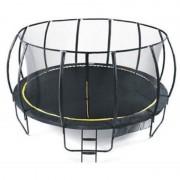 Trambulina Ookee Jump Carbon, 488 cm, plasa si scarita incluse