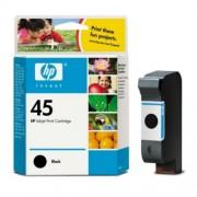 HP 45 Black Inkjet Print Cartridge, 42ml (51645AE)