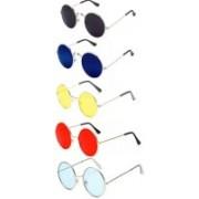 like future Round Sunglasses(Red, Yellow, Blue, Black, Blue)
