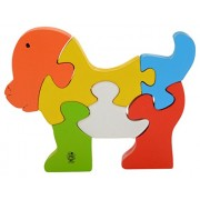 Skillofun Wooden Take Apart Puzzle Doggie, Multi Color