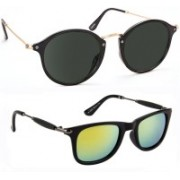 Tazzx Cat-eye, Wayfarer Sunglasses(Black, Yellow)
