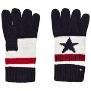 Tommy Hilfiger Navy, White and Red Branded Gloves Fleecevanter