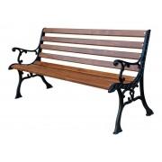 """GARTENBANK """"ASIEN"""", aus Massivholz (Erle) und solidem Gusseisen, lackiert, 150 cm lang."""