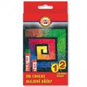 Комплект маслени пастели Koh-i-Noor, 12 цвята, 2200040