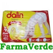 DALIN Scutece nr.4 Baby Care Maxi 7-18 kg 42 bucati