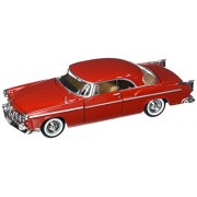 1955 Chrysler C300, Red - Motormax 73302 - 1/24 scale Diecast Model Toy Car