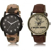 The Shopoholic Green Brown Combo Latest Collection Fancy And Attractive Green And Brown Dial Analog Watch For Boys Watches For Men Stylish