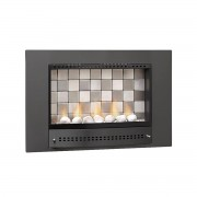 Chad-O-Chef 700 Picture Tiled Fireplace black