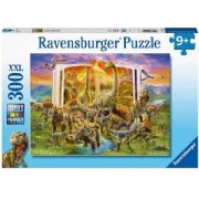 Пъзел Ravensburger 300 части XXL - Книгата на динозаврите, 7012905