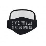 Maska so štítom aj pre ochranu očí - Stay 6 feet away