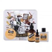 PRORASO Wood & Spice Beard Wash dárková kazeta pro muže šampon na vousy 200 ml + balzám na vousy 100 ml + olej na vousy 30 ml + plechová dóza