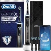 Електрическа четка за зъби Oral-B X 20000 Luxe Edition, сензор за натиск, Изкуствен интелект, 4 глави, луксозен калъф за пътуване, Сив