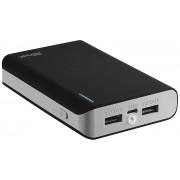 Trust Power Bank 2 Porte USB 8000 mAh Caricabatteria Portatile Torcia Nero Cellulare iPad Tablet Fotocamera Mp3
