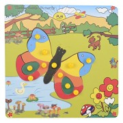 Skillofun Theme Puzzle Standard Butterfly Knobs, Multi Color