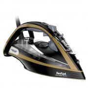 Fier de calcat cu abur Tefal Ultimate Pure FV9865, 3000 W, 250 g/min, 350ml, Oprire automata, Negru/Auriu