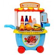 Toyshine Bucket Cum Barbeque Kitchen Set Play Cart Pretend Play Set Toy
