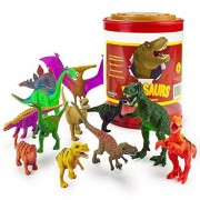 Toddler Toy Playset, 12 Large Dinosaur Assortment With Storage Kids Toys Playsets