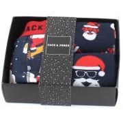 Jack&Jones; Giftbox trunks & strumpor mörkblå
