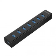 ORICO H7013-U3 ABS Material Desktop 7 Ports USB 3.0 HUB with 1m USB Cable(Black)