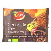 Ciocolata bio cruda cu 75% cacao, fara gluten 30g