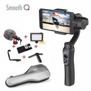 zhi yun Zhiyun Smooth Q 3 Axis Smartphone Handheld Gimbal Video Stabilizer w Microphone Light for Gopro Hero 5 pk Feiyu DJI OSMO