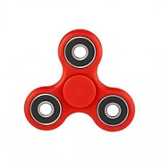 The Anti-Anxiety 360 Spinner Helps Focusing Fidget Toys [3D Figit] Premium Quality EDC Focus Toy for Kids & Adults - Best Stress Reducer Relieves ADHD Anxiety and Boredom Ceramic Cube Bearing (Red)
