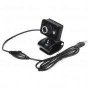 20 Megapixels USB 2.0 Webcam Bedrade Camera 3 LED WebCam Ingebouwde MICROFOON Microfoon Verstelbare Focus Rode Zwarte Clip voor Computer