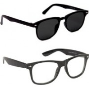 0303 FASHION HUB Retro Square, Retro Square Sunglasses(Black, Clear)