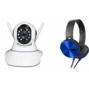 Zemini Wifi CCTV Camera and Extra Bass XB450 Headset for SAMSUNG GALAXY GRNAD MAX(Wifi CCTV Camera with night vision  Extra Bass XB450 Headset )