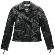 Blauer USA Padded Collar Ladies Leather Jacket - Size: Medium