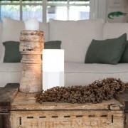 QAZQA Lampada da tavolo con regolatore HEXAGON bianca