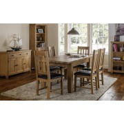 Astoria Oak Extending Dining Set - ( With 4 Chairs or 6 Chairs) - Table + 4 Chair