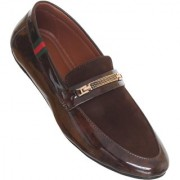 Calaso Mens Brown Loafers
