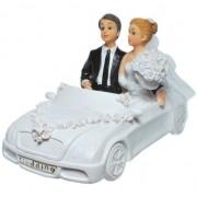 Geen Gadget spaarpot trouwauto met bruidspaar