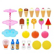 YeahiBaby Children Cake Desserts Tower Playsets Kids Role Play Toy Set Playing House Learning Toys