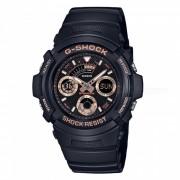 reloj de hombre serie casio g-shock AW-591GBX-1A4 estandar-negro + oro rosa