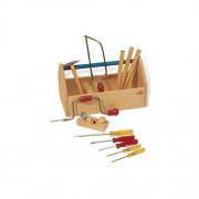 Pinolino 11-tlg. Werkzeugkiste Set in Klar / Bunt lackiert Pinolino