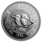 Kookaburra Stříbrná mince 1 AUD Australian Ledňáček 1 Oz 1994