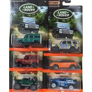 Matchbox Land Rover 6-vehicle exclusive set 2016 series Defender 110 / Range Rover Evoque / Land Rover SVX / Range Rover Sport Freelander Off-Road / Police Discovery / Land Rover Ninety