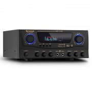 Auna AMP-2 HIFI караоке усилвател 100W MAX. USB SD MP3 (AV1-Amp-2 USB)