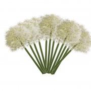 Merkloos 12x Witte allium/sierui kunstbloemen 65 cm