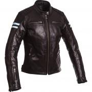 Segura Motorrad-Jacke Motorrad Schutz-Jacke Segura Retro Damen Lederjacke schwarz/blau 38 blau