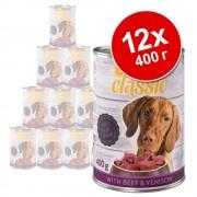 - Бонус опаковка zooplus Classic 12 x 400 г с дивеч и говеждо