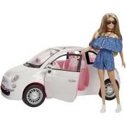 Mattel Barbie. Fiat 500 con Dettagli realistici. Portiere apribili e Ruo...