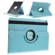 iPad Air 2 Rotary Leren Tas - Baby Blauw