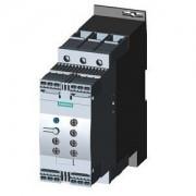 Lágyindító 63A, motor hővédelemmel, 3f 30-37Kw 400-600V motorokhoz, 24V AC/DC vezérlő feszültség, rugós csatlakozás, S2 méret (Siemens 3RW4037-2TB05)