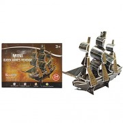 Asian Hobby Crafts Mini 3D Puzzles Mini Queen Anne's Revenge