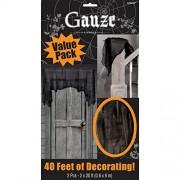 Haunted Mansion Halloween Party Black Gauze Decoration, Gauze, 2 Feet x 20 Feet , Pack of 2