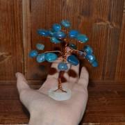 Pomisor mic din agat albastru si cupru