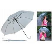 Umbrela Pliabila Transparenta cu 8 Brate, Deschidere Automata, Diametru 110cm